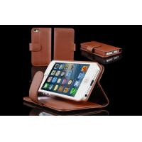 Hard Shell Cell Phone Leather Wallet Case for Apple iPhone 5S , Shock Resistant Manufactures