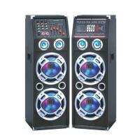 Double 10 Inch Bluetooth Portable Speaker PA System With Wireless Microphone Manufactures