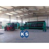Twisting Metal Wire Hexagonal Gabion Mesh Weaving Machine , 4300mm Double Rack Drive Manufactures