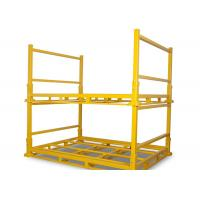 Powder coating yellow color industrial warehouse storage stacking rack folding material storage racks Manufactures