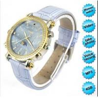 Exquisite HD MP3 Watch Camera For Girls Blue Violet 4GB Manufactures