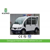 Pure White 4 Seats Electric Patrol Car With Rear Mini Cargo Box Manufactures