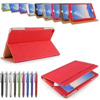 Luxuy Durable PU Leather Tablet Case and covers Rose Red / Grey / Green Manufactures