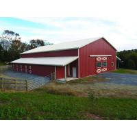 PEB Pole Steel Buildings, Metal Barn Building Kits H Section Beams Gable Frame Manufactures