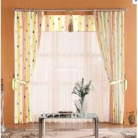 Jacquard Window Polyester Shower Curtain Yellow / Purple With Print Technics Manufactures