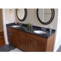 Black Color Natural Marble Vanity Countertops With Single Sink Manufactures
