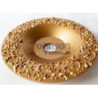 China Gold Buffing Tungsten Carbide Grinding Disc For Roughing Rubber And Fabric on sale