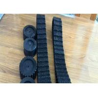 China Mini Robot Rubber Track with Driving/Supporting Wheels (100*20*76) on sale