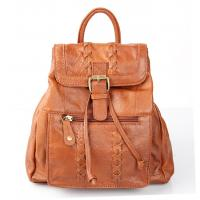 China Camel Colored Italian Leather Backpack Handbags For Women , Exquisite on sale