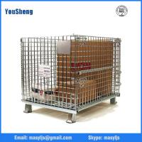 Quality Galvanized wire mesh cage storage, folding wire container, bins, wire stacking baskets for sale