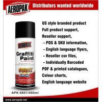 Aeropak Magnetic Auto Graffiti Spray Paints Cans , Fast Drying And High Spray Rate Manufactures