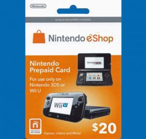 $20 Nintendo 3DS Wii U Prepaid Points Card eShop Manufactures