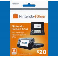 Buy cheap $20 Nintendo 3DS Wii U Prepaid Points Card eShop from wholesalers