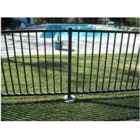 China 2 Rails Black Steel Fence Black Tubular Fencing With ISO9001 Certificate on sale