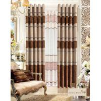 China America Style Jacquard Luxury Ready Made Curtains , Polyester Modern Window Curtain on sale