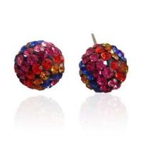2012 newest Fashion Crystal Rhinestone Stud Earrings Manufactures