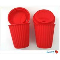 Quality silicone coffee cup with lid ,promotion travel silicone coffee cups for sale