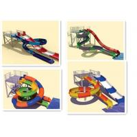 China Family Water Slides Interactive Swimming Pool Water Slide Equipment For Holiday Resort on sale