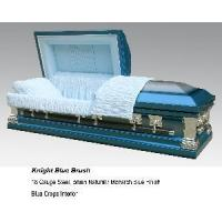 Quality Knight Blue Brush Casket for sale