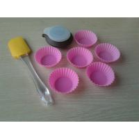 Eco-Friendly Chocolate Silicone Baking Set , 8pcs Silicon Bakeware Set For Kids Manufactures