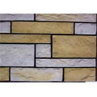 Quality Rectangle Artificial Wall Stone With Strong Adhesion Color Solid Focus for sale