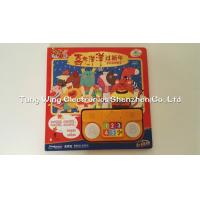 China 6 Button and 2 LED Module sound book for baby with Funny Nursery Rhyme on sale