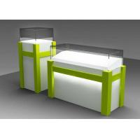 Commercial Custom Glass Display Cases With Locking Bottom Cabinet Manufactures