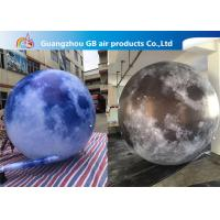 210T Polyester Inflatable Lighting Decoration / Inflatable Moon Globe Manufactures