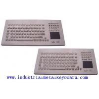 China Panel Mount Industrial Keyboard With Trackball , Function Keys And Number Keypad on sale