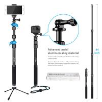 Gopro / Smartphone / Dslr Camera Selfie Stick , HSU 3 Section Telescopic Extension Pole Manufactures