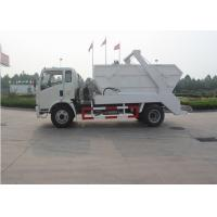 Six Wheels Swept Body Arm Roll Garbage Truck , 4x2 5 - 6CBM Waste Container Truck Manufactures