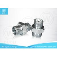 Straight DIN 24 Degree Cone Seat Bite Type Hydraulic Hose Connectors Fittings Manufactures