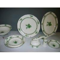 China Fine Bone China Dinnerware Green Jade on sale