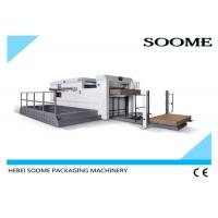 China Creasing Semi Automatic Die Cutting Machine With Front Conveyor Delivery Mechanism on sale