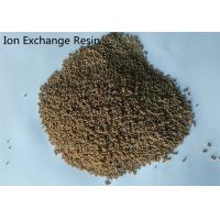 China Macroporous Ion Exchange Resin Strongly Acidic Cation For Water Purifying on sale
