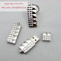 Square metal strip cube prism usb disk  custom corporate gifts business logo 8GB Manufactures