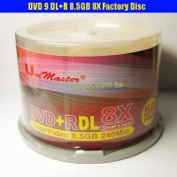 China Taiwan Double Layer DVD+R 8X DL 8.5GB Recordable Disc A+ GRADE on sale