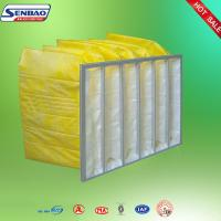China Portable F8 Yellow Pocket Synthetic Fiber Air Filters Low Initial Resistance on sale