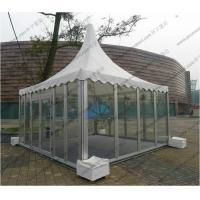 Aluminum Outdoor Pagoda Party Tents , Garden Marquee Tent With Glass Sidewalls Manufactures