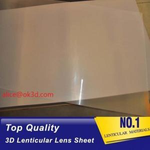Offset press machine 0.18mm 200 Lpi, 51x71cm 3D Film Lenticular Lens Sheet for UV offset printer annd injekt prin Manufactures