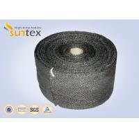 Good Abrasion Resistance Fiberglass Insulation Tape / Fireplace Door Fiberglass Rope Seal Manufactures