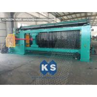 100X120 Mm Gabion Box Machine Metal Galvanized Baskets Fence >3.5 M / Min Manufactures
