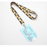 Screen Printing Polyester ID Card Holder Lanyard Vivid 3D Effect Free Samples Manufactures