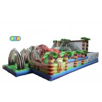 Dinosaur Jurassic Themed Inflatable Bounce House Combo Adventure Amusement Playground Manufactures