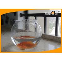 Beautiful 4L Round PET Plastic Fish Bowl , Aquarium Fish Tank For Home Decorative Manufactures