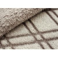 Double Sided Cutting Winter Fleece Fabric , Fleece Material For Blankets Manufactures