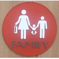 "UV Printed Text Braille Toilet Signs 1/4"" Clear Acrylic Back Panel With CA 24 Title"