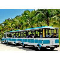 72 Seat Tourist Train Rides For Adults / Trackless Toy Train 380V FRP Protective Door