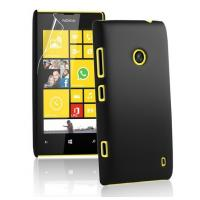 Hard Plastic Cell Phone Cases Black , Rubber Nokia Lumia 520 Covers Manufactures