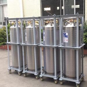 175L Cryogenic Liquid Storage Tank Xygen / Nitrogen / Argon Dewar Bottle Manufactures